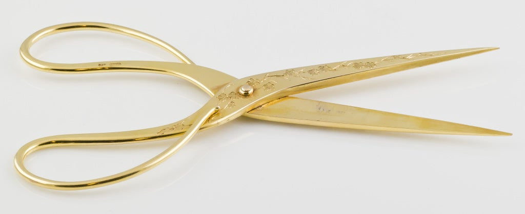ART NOUVEAU Solid Gold Scissors 6