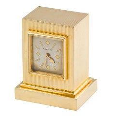CARTIER Gold Key Winding Desk Clock