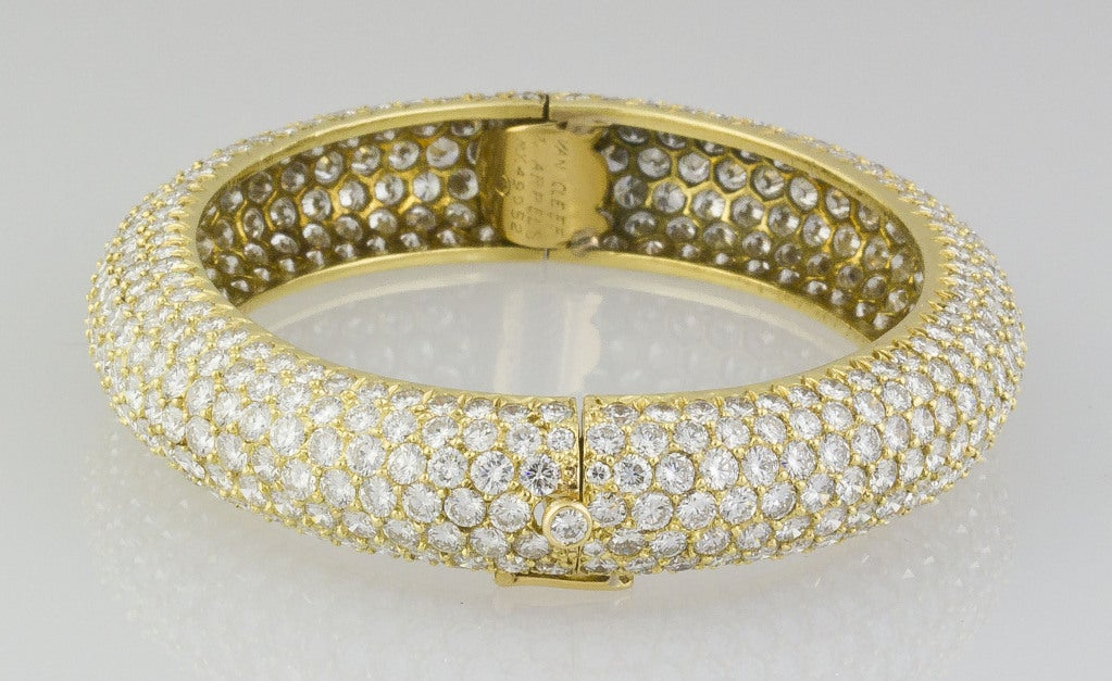 Van Cleef & Arpels Pave Diamond Bangle Bracelet 3