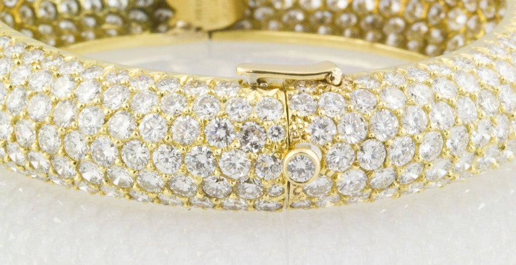 Van Cleef & Arpels Pave Diamond Bangle Bracelet 5