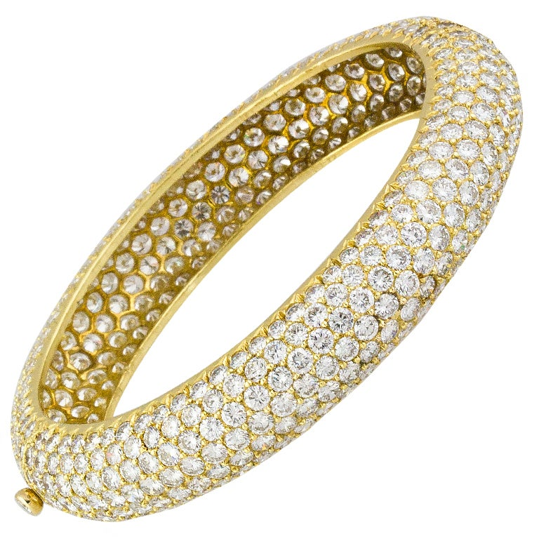 Van Cleef & Arpels Pave Diamond Bangle Bracelet 1