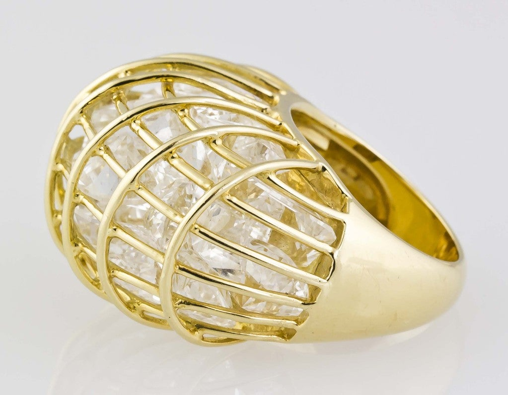 verdura rock and gold caged ring at 1stdibs
