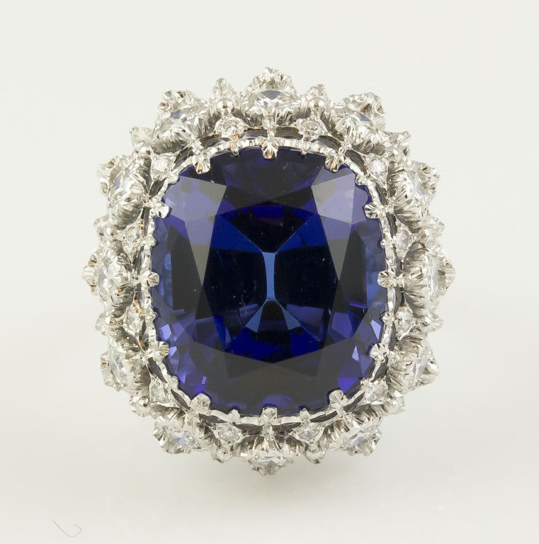 BUCCELLATI Tanzanite Diamond Gold Cocktail Ring 2