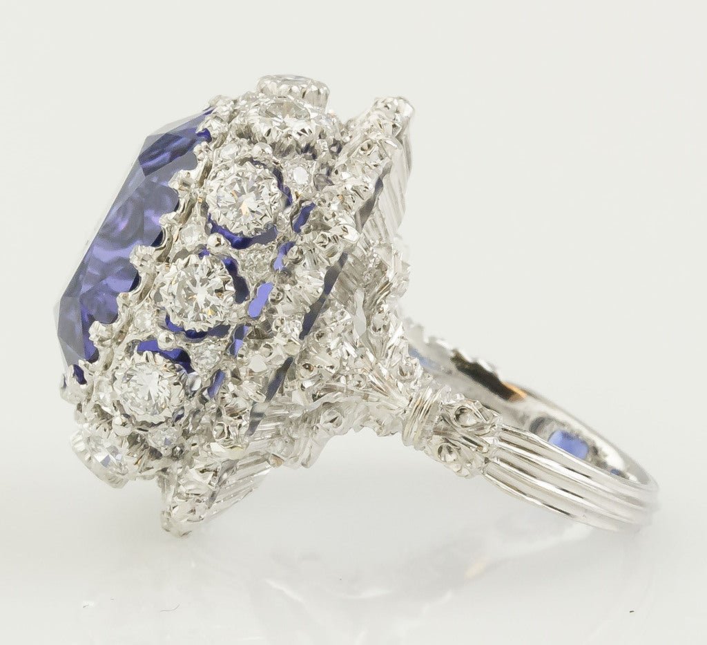 BUCCELLATI Tanzanite Diamond Gold Cocktail Ring 3
