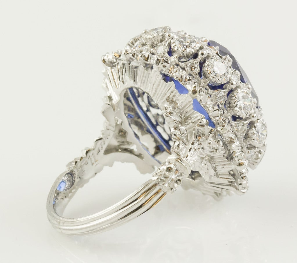 BUCCELLATI Tanzanite Diamond Gold Cocktail Ring 5