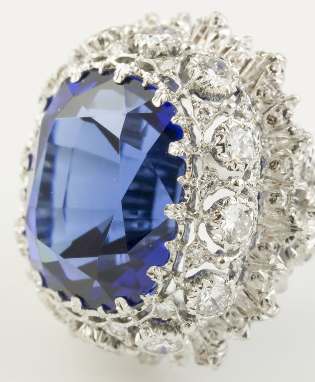 BUCCELLATI Tanzanite Diamond Gold Cocktail Ring 9