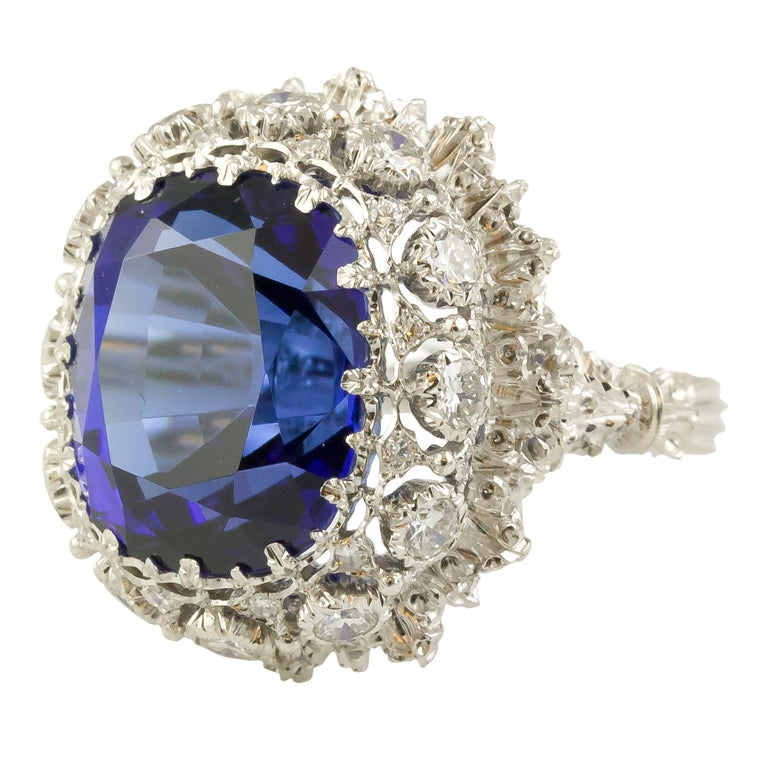 BUCCELLATI Tanzanite Diamond Gold Cocktail Ring 1