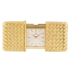 MOVADO Yellow Gold Ermeto Travel Watch