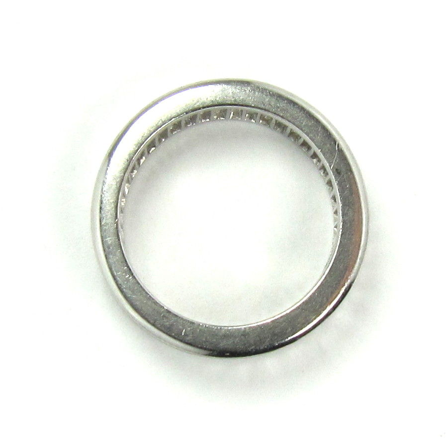 baguette platinum band ring 4 5ct size 6