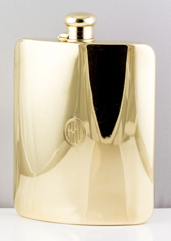 TIFFANY & CO. Large Solid Gold Flask image 2