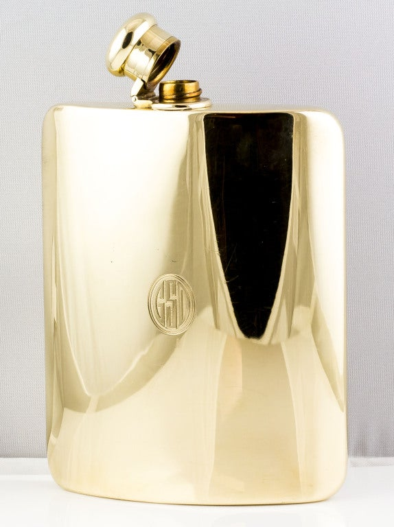 TIFFANY & CO. Large Solid Gold Flask image 3