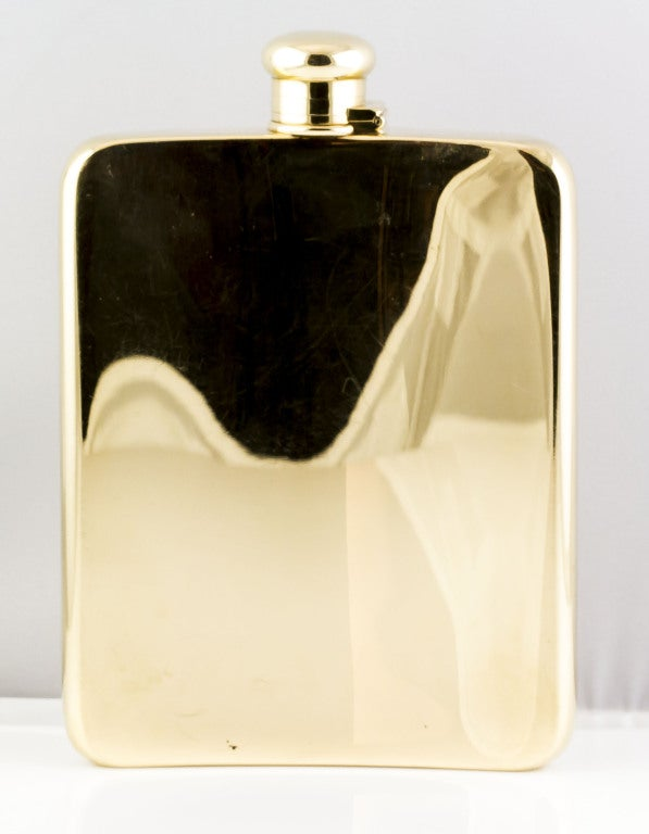 TIFFANY & CO. Large Solid Gold Flask image 5