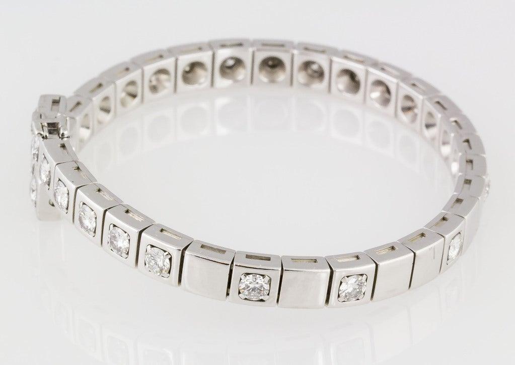 cartier white gold bangle bracelet at 1stdibs