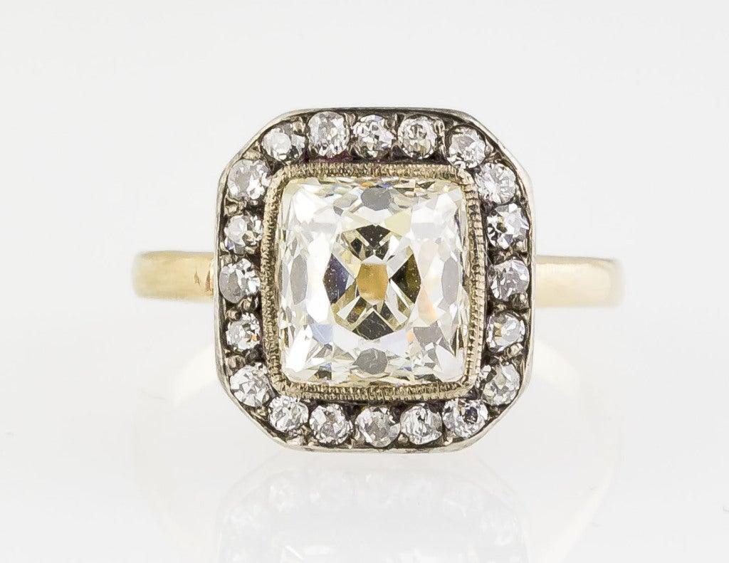 antique platinum gold ring image 2