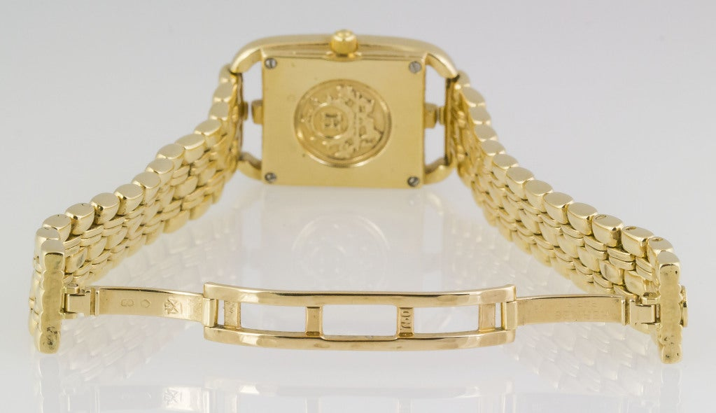 Hermes Lady S Yellow Gold Cape Cod Bracelet Watch At 1stdibs