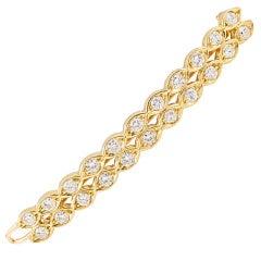 CARTIER Paris Diamond Gold Hair Barrette Pin