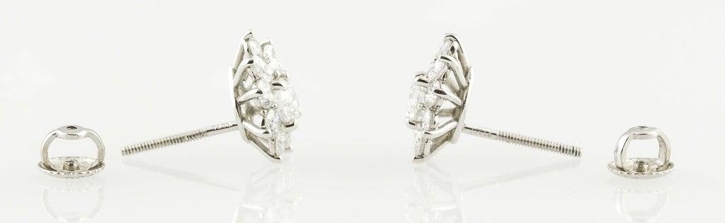 TIFFANY & CO. Victoria Diamond Platinum Cluster Earrings 2
