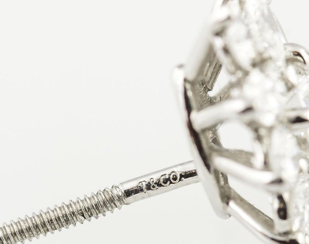 TIFFANY & CO. Victoria Diamond Platinum Cluster Earrings 3
