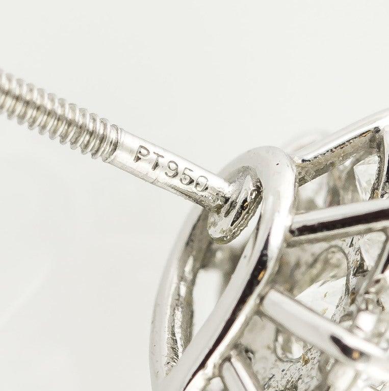 TIFFANY & CO. Victoria Diamond Platinum Cluster Earrings 4