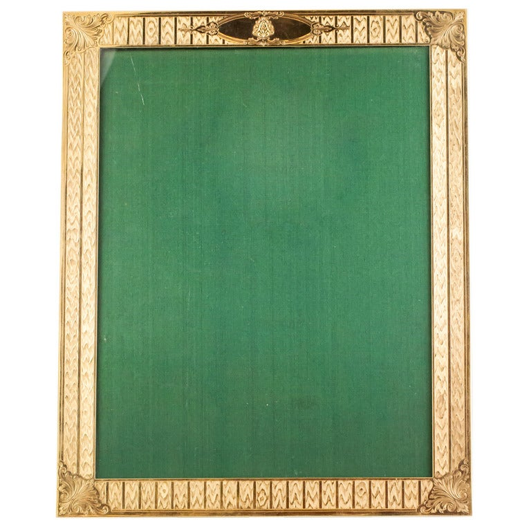 Black Starr & Frost Retro Large Gold Picture Frame For Sale