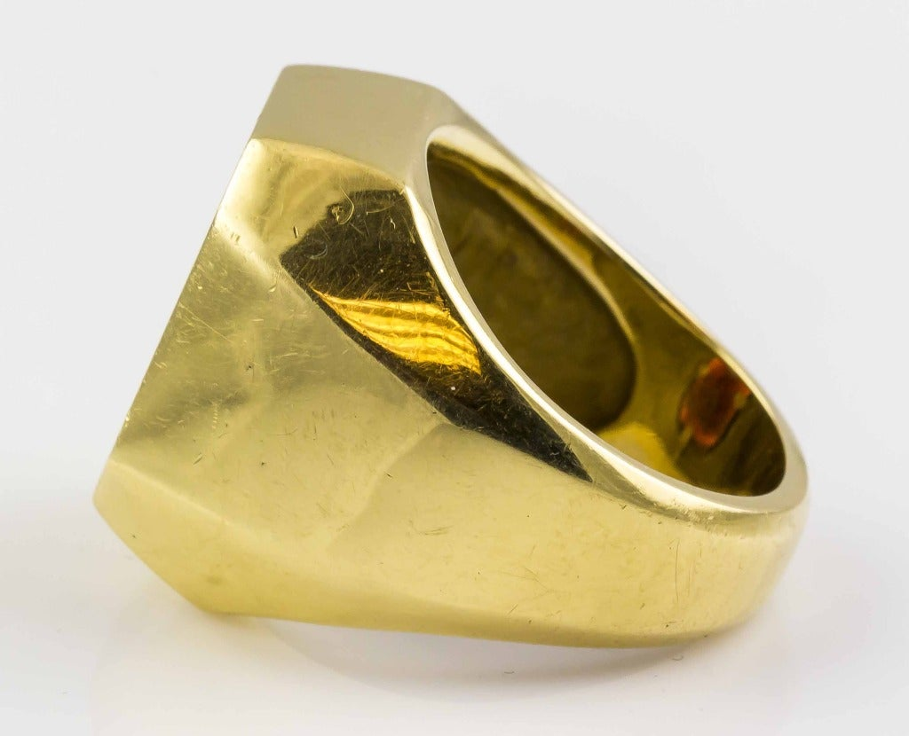 a97647b61 Men's 1960s Tiffany & Co. Garnet Crest Signet Signet Ring For Sale