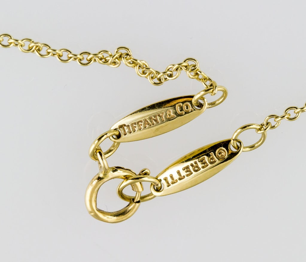 Jewelry Necklaces Chain Necklaces Tiffany Co Peretti Diamond Gold Open Heart Pendant Necklace Id J 134276 Cheap Tiffany And Co Jewelry