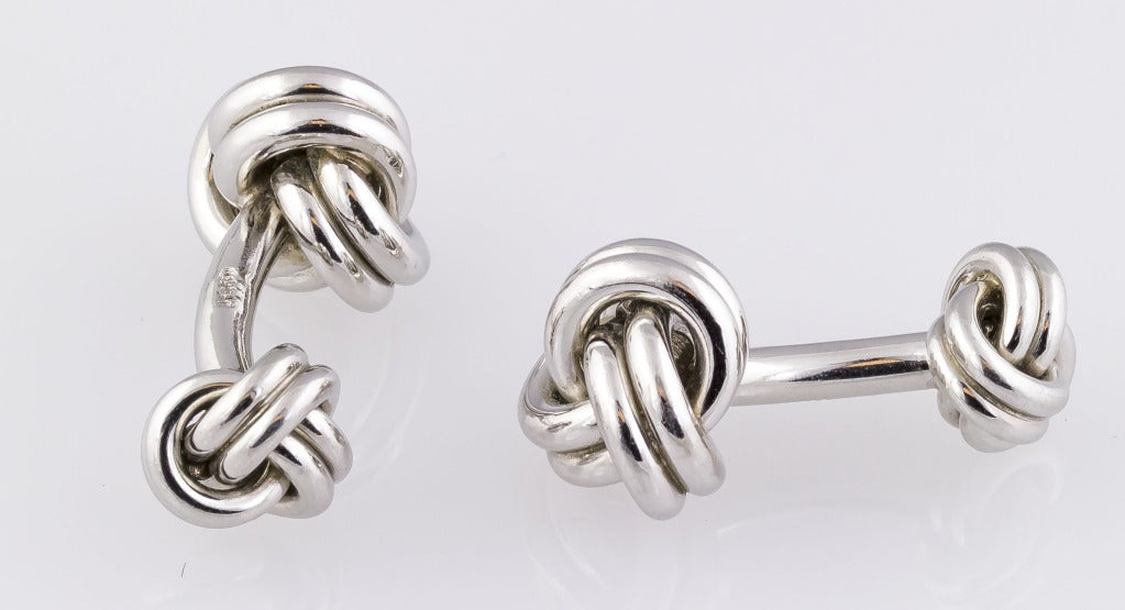 Tiffany And Co Platinum Knot Cufflinks At 1stdibs