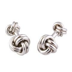 TIFFANY & CO. Platinum Knot Cufflinks