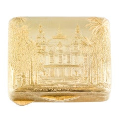 Gianmaria Buccellati Monte Carlo Le Casino Silver Gilt Pillbox