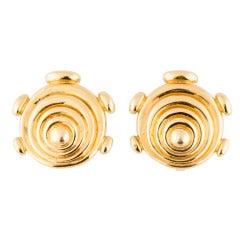 Cartier Aldo Cipullo Gold Ear Clips
