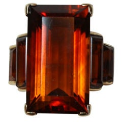 Large Citrine Dress Ring