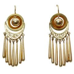 A Pair of Gold Fringe Earrings