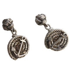 HERMES Silver Nautical Cufflinks