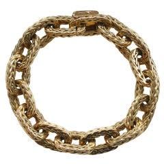 HERMES Braided Gold Bracelet