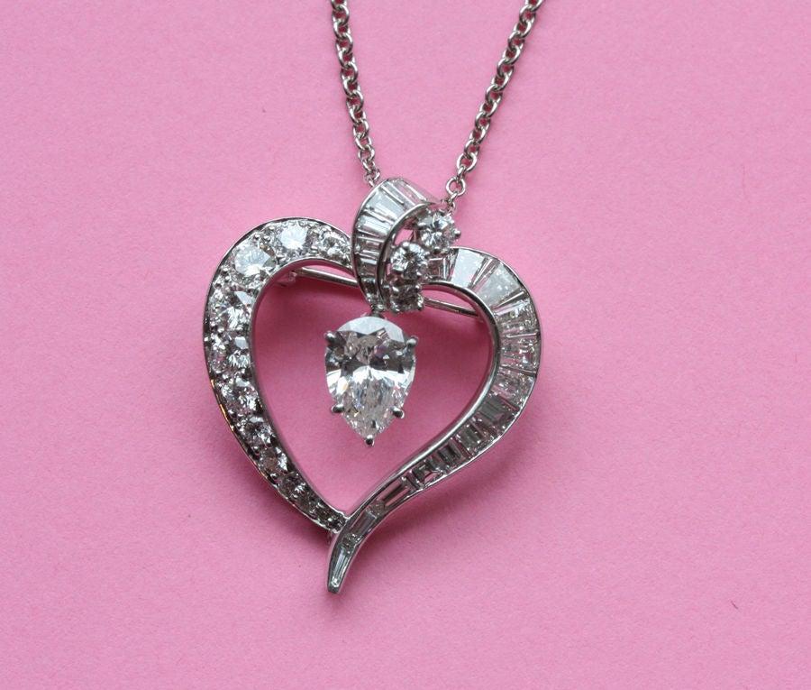Harry Winston Diamond Heart Pendant At 1stdibs