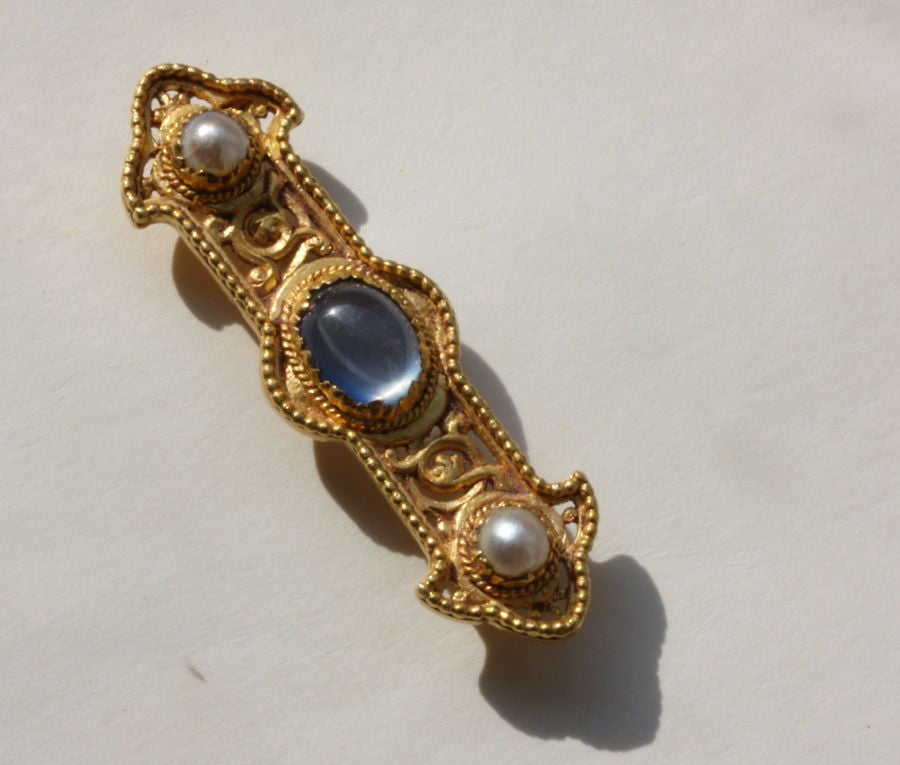 Victorian Wiese Neo Medieval Brooch For Sale