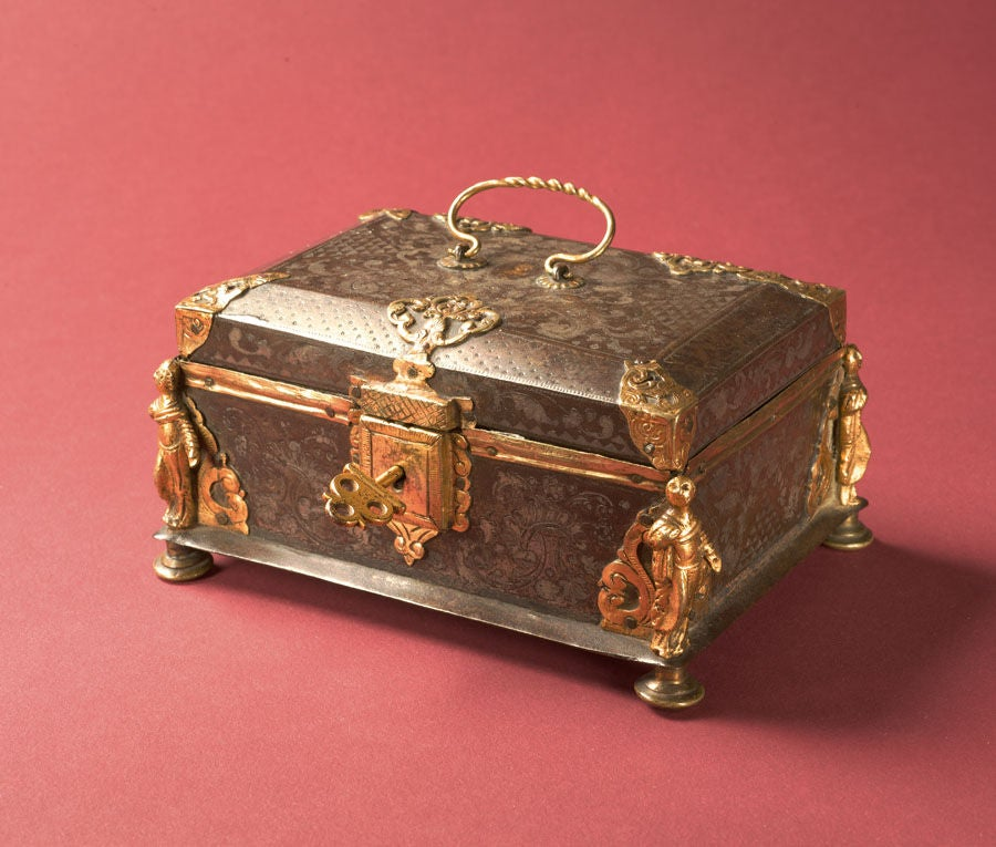 Damascened Steel and Gold 16th Century Box 3