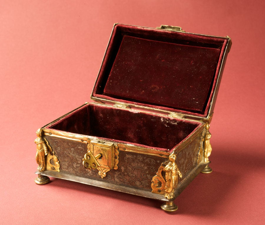 Damascened Steel and Gold 16th Century Box 4