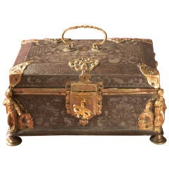 Damascened Steel and Gold 16th Century Box
