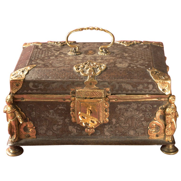 Damascened Steel and Gold 16th Century Box 1