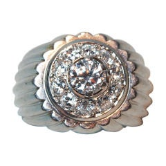 GEORGE L'ENFANT Diamond Platinum Ring