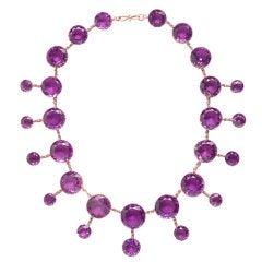 Superb Large Amethyst Necklace