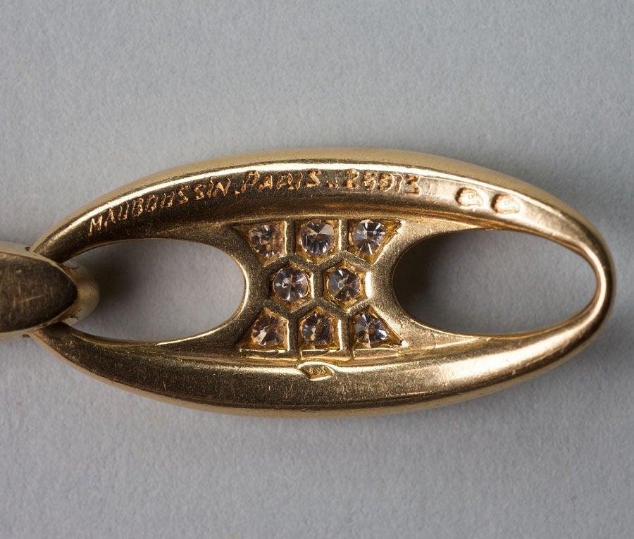 Mauboussin Diamond Gold Bracelet 5