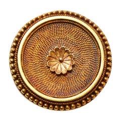MELLERIO DITS MELLER Neo Etruscan Circle Brooch