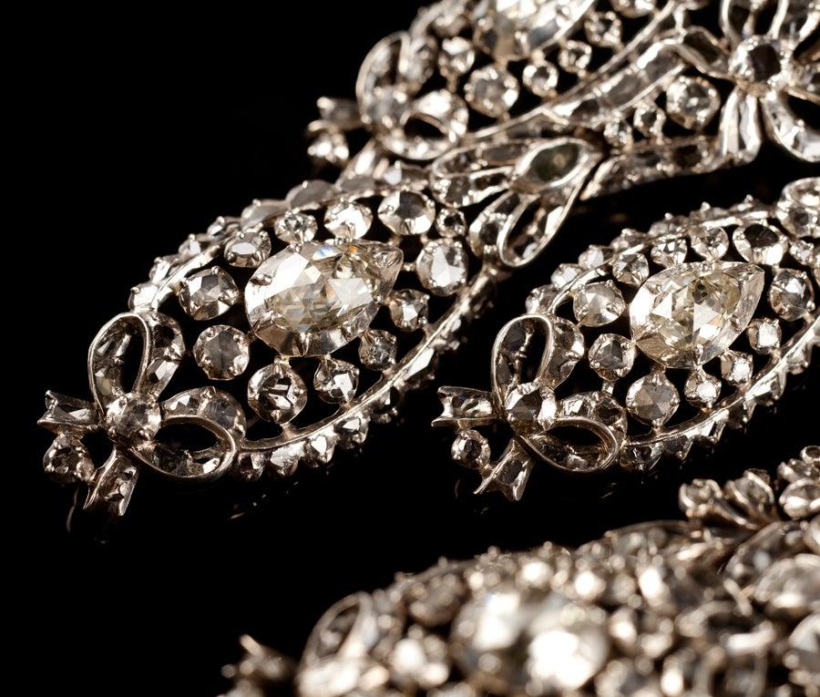 Important Diamond Girandole Earrings At 1stdibs