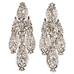 Important Diamond Girandole Earrings