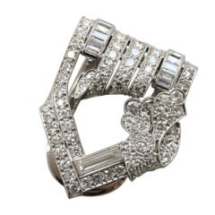 BAILEY, BANKS & BIDDLE Diamond and Platinum Clip Brooch