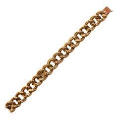 VAN CLEEF & ARPELS Braided Gold Link Bracelet