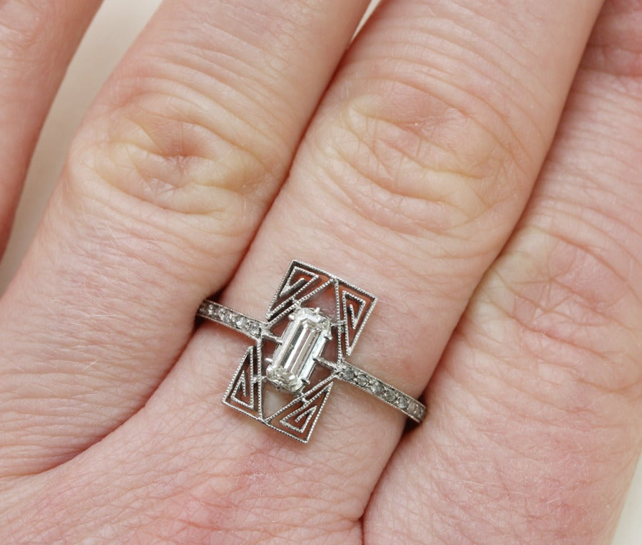 lalique and platinum ring at 1stdibs