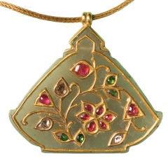gem encrusted jade Haldili amulet